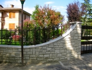 finelli architectural iron and stairs custom unique front yard safety fence in westlake ohio