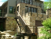 finelli iron works custom handmade unique design exterior steel staircase system and staircase railing in akron ohio