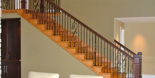 finelli iron works custom decorative classic style staircase railing in avon lake ohio