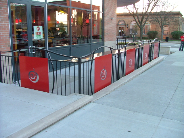 Custom Restaurant Patio Fence