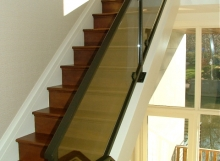 Finelli architectural iron and stairs custom made modern glass and steel staircase railing in westlake ohio