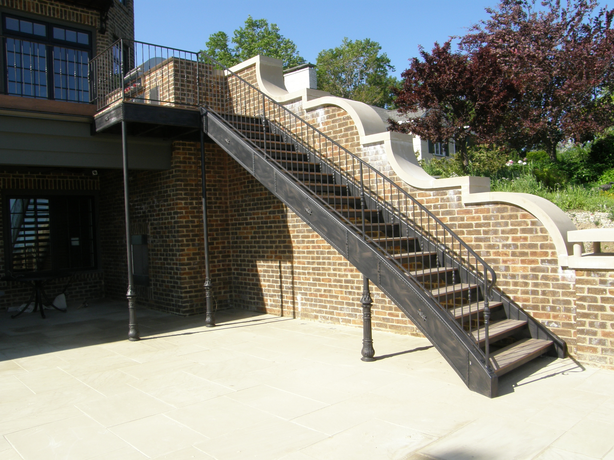 Finelli ironworks iron stairs archives finelli ironworks for Terrace stairs
