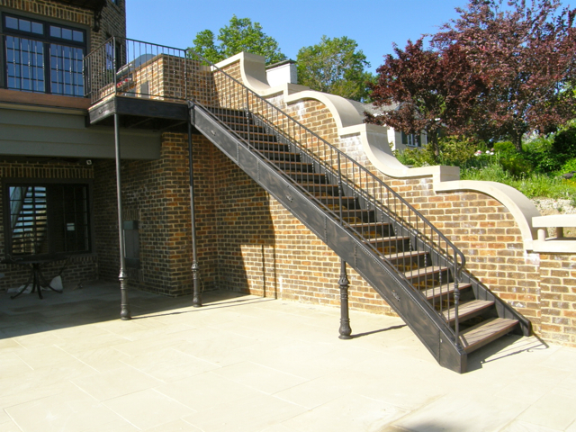 Charming Terrace Steel Staircase