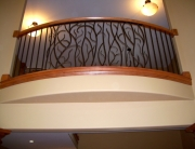 Finelli architectural iron and stairs custom forged nature-themed iron balcony in rocky river ohio