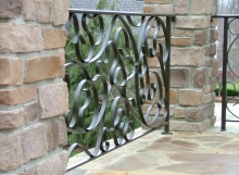 finelli architectural iron and stairs custom modern and unique outdoor patio railing in chagrin falls ohio
