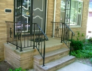 finelli architectural iron and stairs custom front porch and front step railing in columbus ohio
