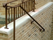 finelli architectural iron and stairs custom exterior basement railing in hunting valley ohio