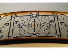 Finelli architectural iron and stairs custom iron staircase balcony railing in chagrin falls ohio