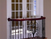 Finelli architectural iron and stairs custom interior iron juliet balcony in gates mills ohio