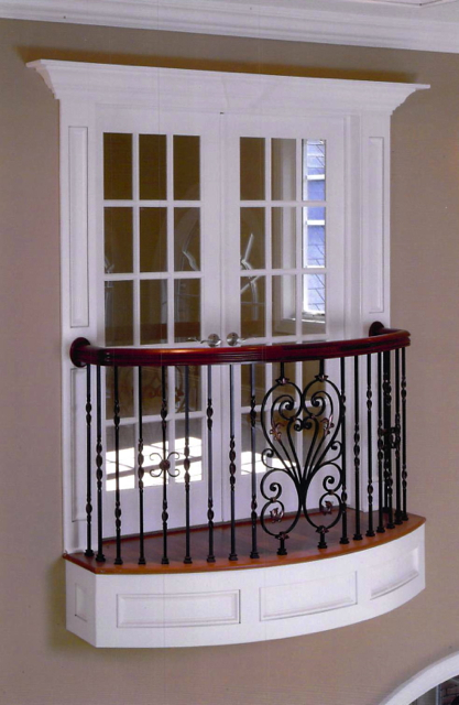 Finelli Architectural Iron And Stairs Custom Interior Juliet Balcony In Gates Mills Ohio