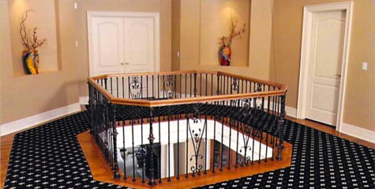 Finelli architectural iron and stairs custom forged decorative balcony railing in hudson ohio