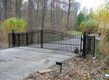 Finelli Architectural Iron and Stairs custom wrought iron driveway gate in gates mills ohio