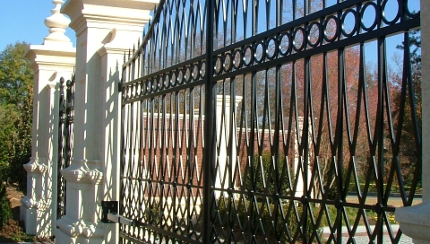 Finelli Architectural Iron and Stairs custom forged driveway gate in shaker heights ohio