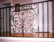 Finelli architectural iron and stairs custom forged iron panel design with spindles in hudson ohio
