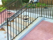 Finelli architectural iron custom exterior modern iron step railing in hunting valley ohio