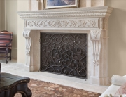 Finelli Architectural Iron and Stairs custom iron fireplace screen in cleveland ohio