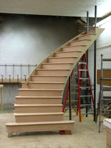 Single Straight Wood Stair Finelli Ironworks