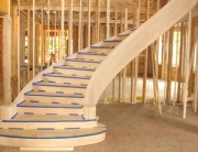 finelli iron works handmade custom wood staircase and landing in cleveland ohio