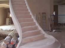 custom handmade woodwork staircase