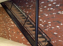 finelli ironworks custom custom hand forged wrought iron and wood staircase system in columbus ohio