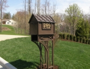 Finelli Architectural Iron and Stairs custom ornate sturdy wrought iron mailbox handmade in cleveland ohio