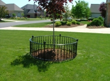 Finelli Architectural Iron and Stairs custom made exterior tree border fence handmade in cleveland ohio