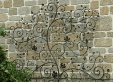 Finelli Architectural Iron and Stairs garden wall decorative iron in hudson ohio