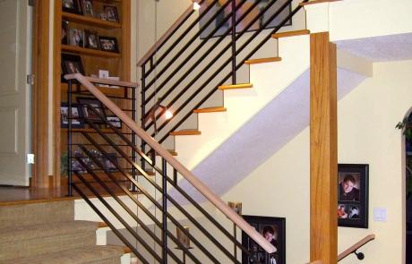 fanelli custom ironworks retrofit modern staircase