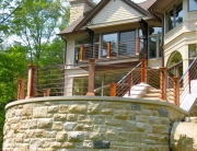 Finelli architectural iron and stairs custom exterior contemporary rustic iron porch balcony railing in pepper pike ohio