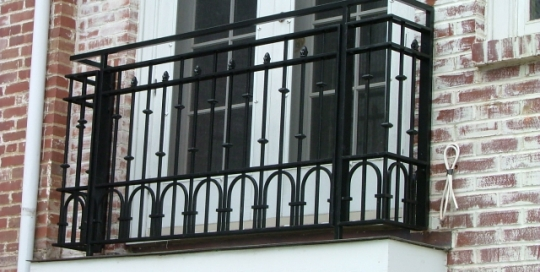 Finelli architectural iron and stairs custom traditional style iron balcony in chagrin falls ohio