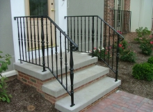 Finelli architectural iron and stairs custom iron front porch step railing in chagrin falls ohio
