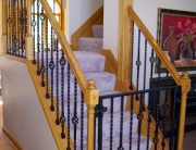 finelli iron works handmade custom iron staircase gate and railing in pittsburgh pennsylvania