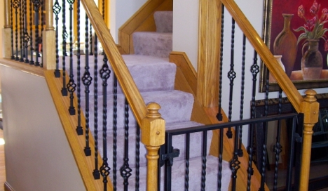 finelli iron works handmade custom iron staircase gate and railing in pittsburgh pennsylvania