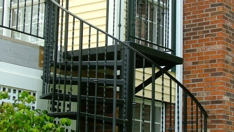 custo iron spiral staircase and porch handmade in northeast ohio by finelli architectural iron and stairs