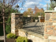 Finelli Ironworks Custom decorative iron porch railing handmade in cleveland ohio