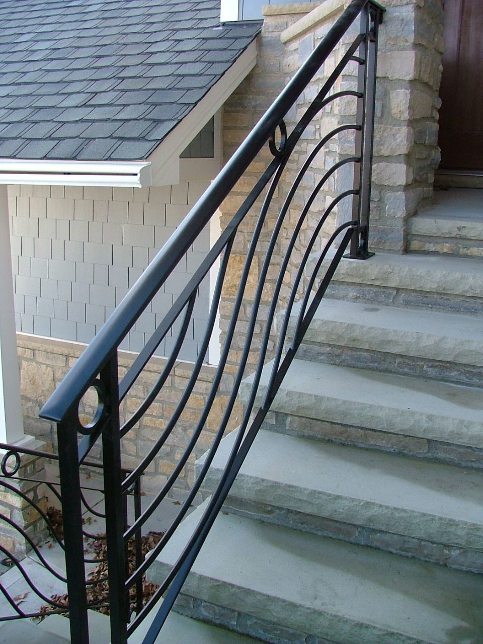 Finelli Ironworks Wave Railing With Cirlces Finelli Ironworks