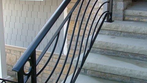 Finelli architectural iron and stairs custom contemporary iron stair railing in chagrin river ohio