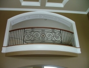 Finelli Ironworks Custom interior iron balcony handmade in cleveland ohio