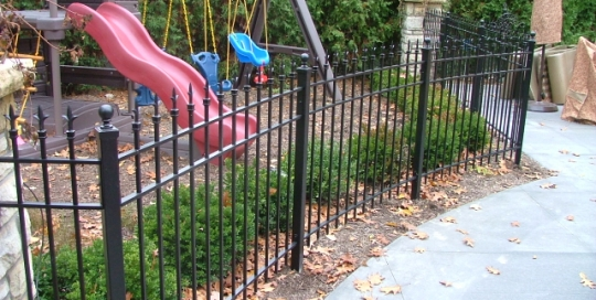 Finelli architectural iron and stairs custom safety playground fence in chagrin falls ohio