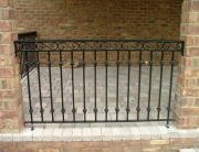 Finelli architectural iron and stairs custom traditional style back porch railing in rocky river ohio