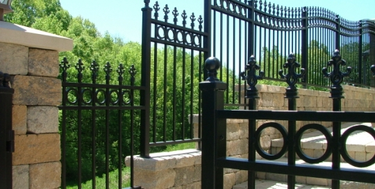 Finelli architectural iron and stairs custom safety fence with decorative finials in chagrin falls ohio
