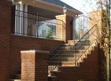 Finelli architectural iron and stairs custom exterior iron staircase railing in gates mills ohio