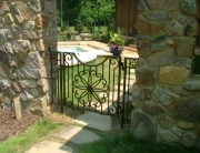 Finelli Ironworks custom made backyard garden gate handmade in cleveland ohio
