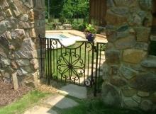 Finelli Ironworks custom made backyard garden gate handmade in cleveland ohio