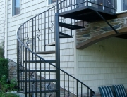 Custom iron spiral staircase finelli ironworks northeast ohio
