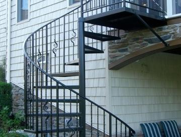 Custom iron spiral staircase finelli ironworks northeast ohio