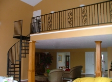 Finelli Architectural Iron and Stairs custom iron spiral staircase handmade in Cleveland Ohio