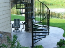 custom iron spiral staircase handmade in north east ohio by finelli architectural iron and stairs