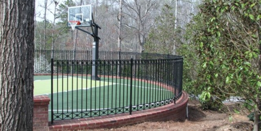 Custom iron basketball court fence strong and sturdy handmade by Finelli Iron and Stairs