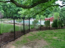 Custom wrought iron fence handmade in Cleveland Ohio by Finelli Iron and Stairs